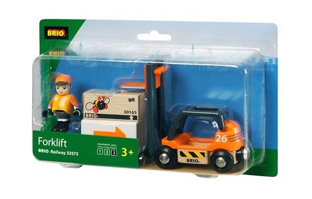 33573 Wózek widłowy - paleciak - ruchomy z ładunkiem