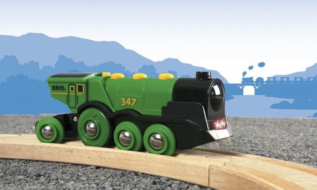 33593 Brio - Klasyczna lokomotywa na baterie - zielona