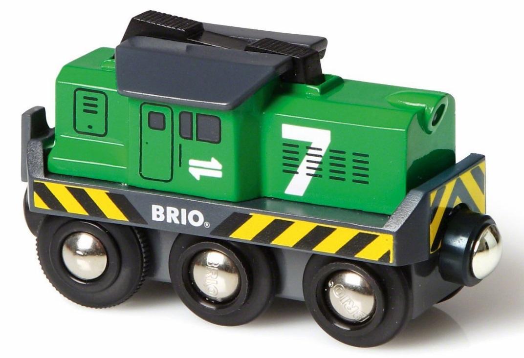 33214 Zielona towarowa lokomotywa na baterie