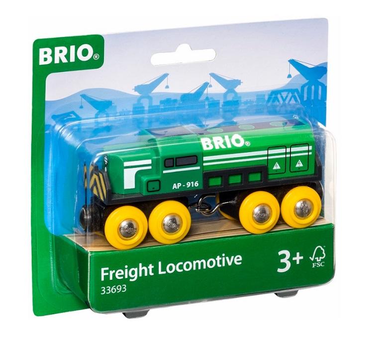 33693 Zielona ciężka lokomotywa towarowa Brio