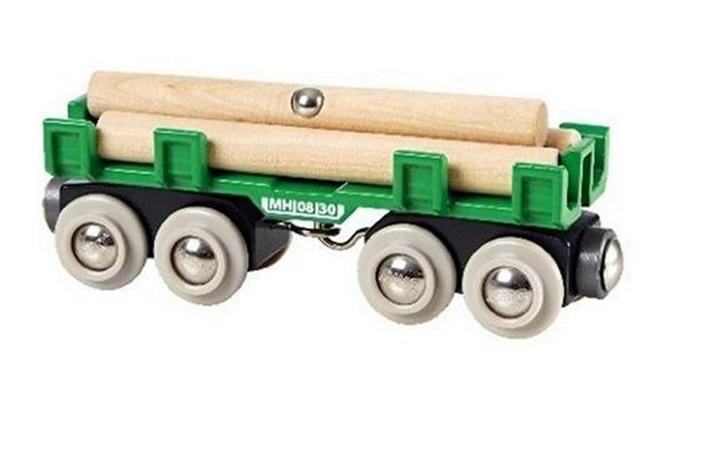 33696 Duży wagon z drewnem do dźwigów magnetycznych