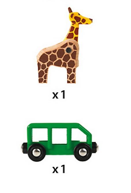 33724 Wagon, przyczepa z żyrafą