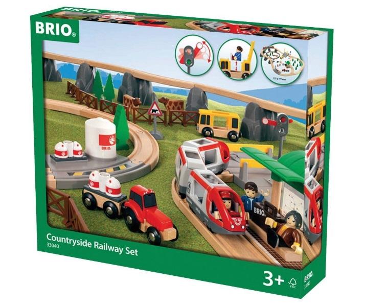 33040 Kolejka farmera z pociągiem pasażerskim