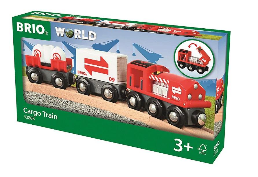 33888 Czerwony pociąg cargo