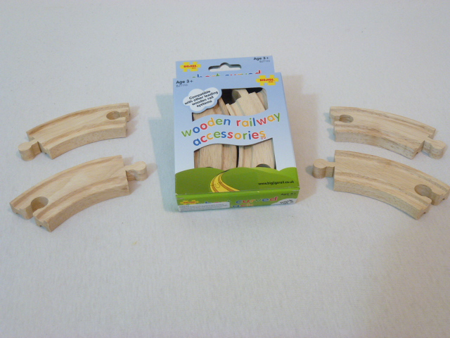 BJT110 Zakręt krótki, tor drewniany - zestaw 4 szt