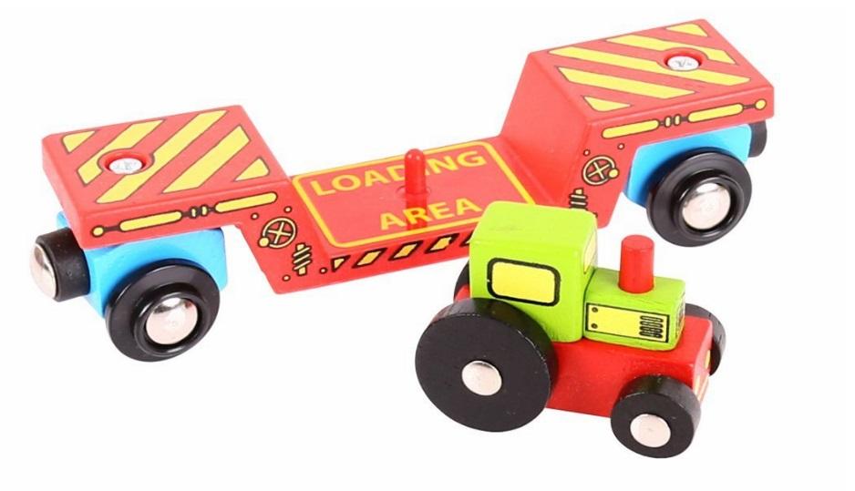BJT413 Wagon - platforma transportowa z traktorem