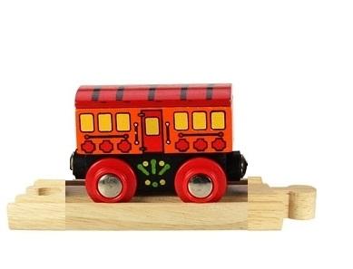 Wagon z czerwonym daszkiem - do pociągu pasażerskiego