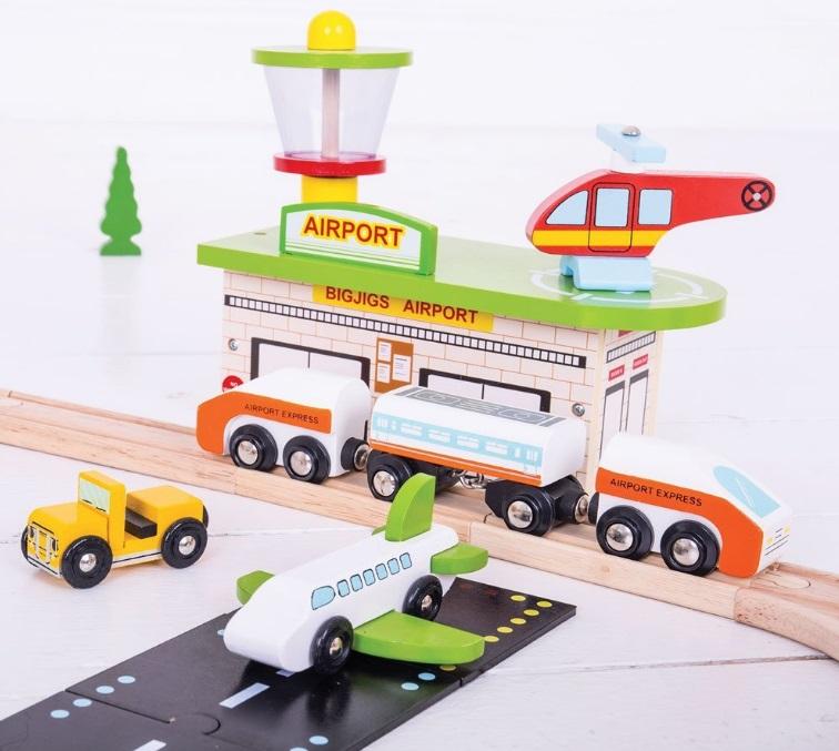 BJT018 Zestaw kolejowy z lotniskiem i tunelem