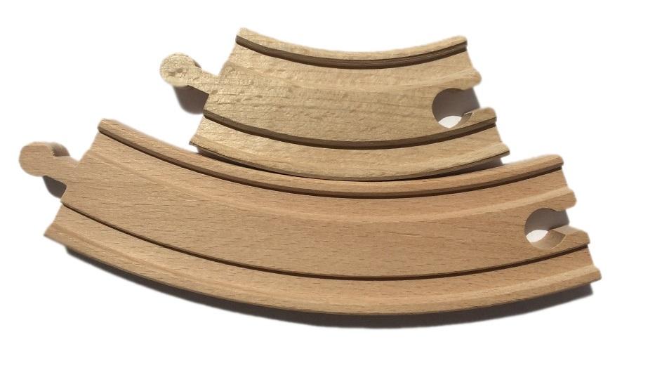Zakręt krótki - tor drewniany