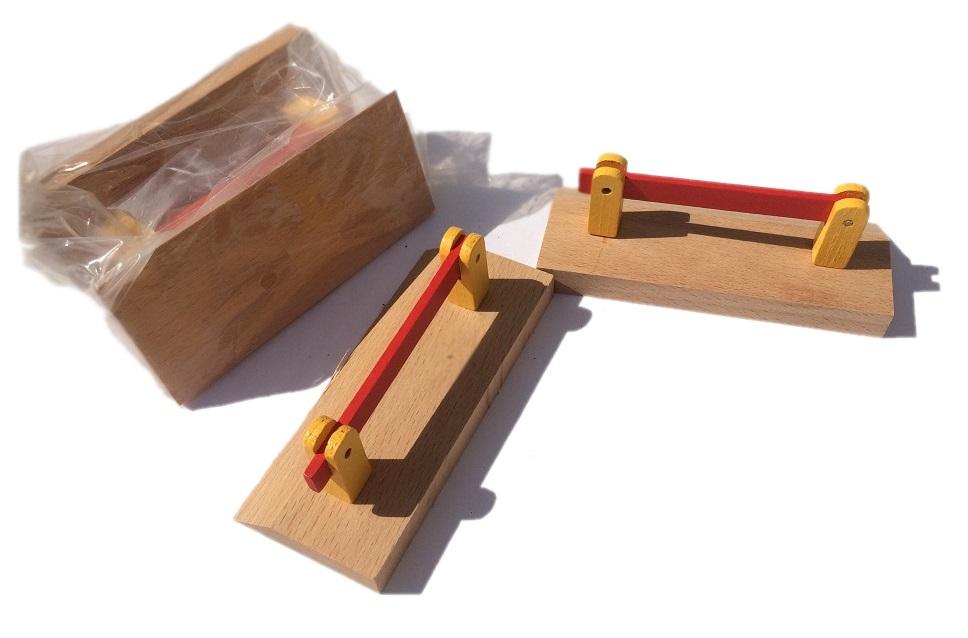 Przejazd kolejowy - zestaw szlabanów drewnianych