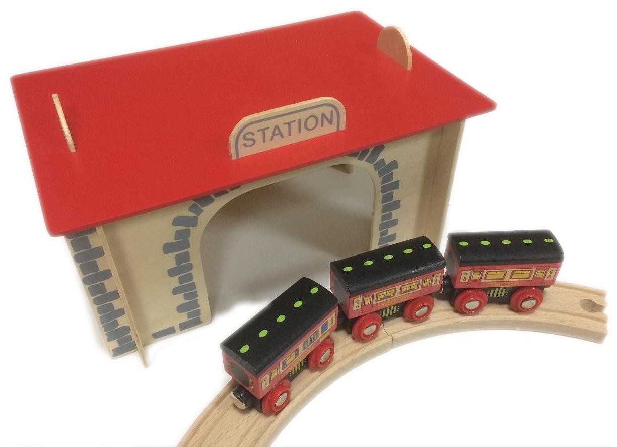 Dworzec kolejowy do składania puzzle