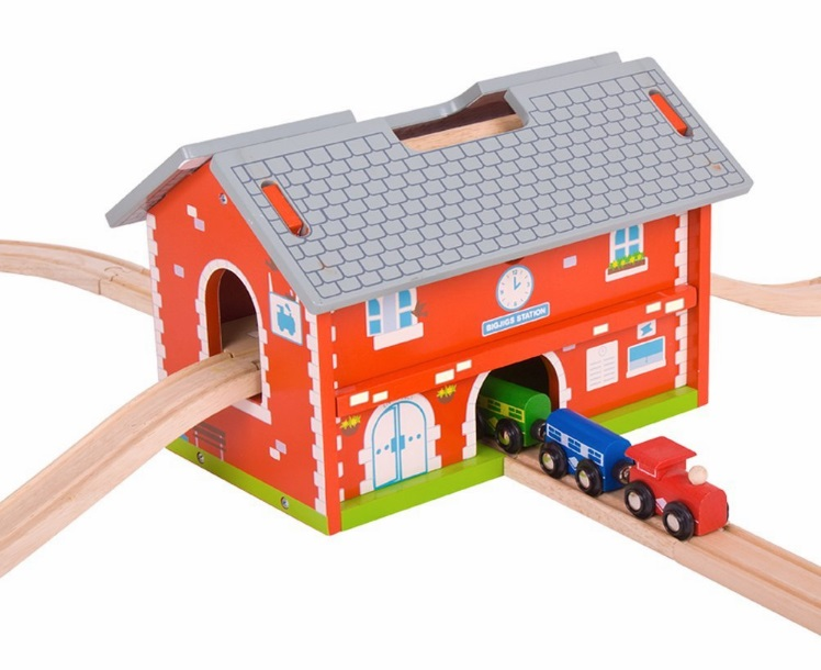 BJT024 Dworzec - zestaw kolejki - zabawka przenośna