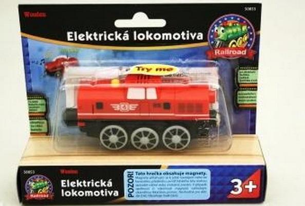50853 Czerwona, manewrowa lokomotywa elektryczna