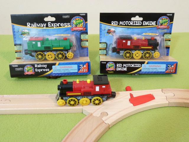 50412 Pociąg górski - czerwona lokomotywa elektryczna