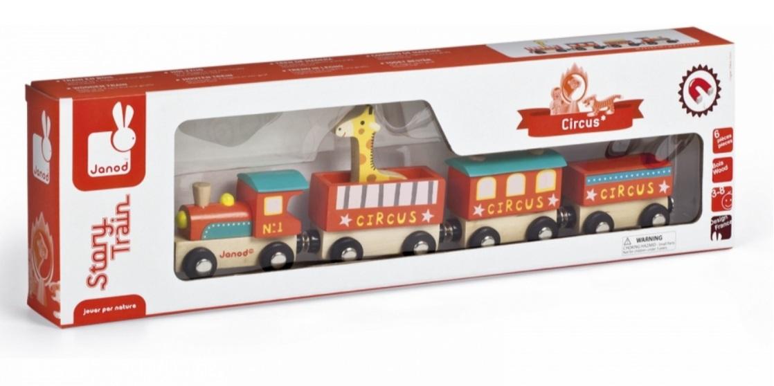 J08530 Pociąg cyrkowy z żyrafą