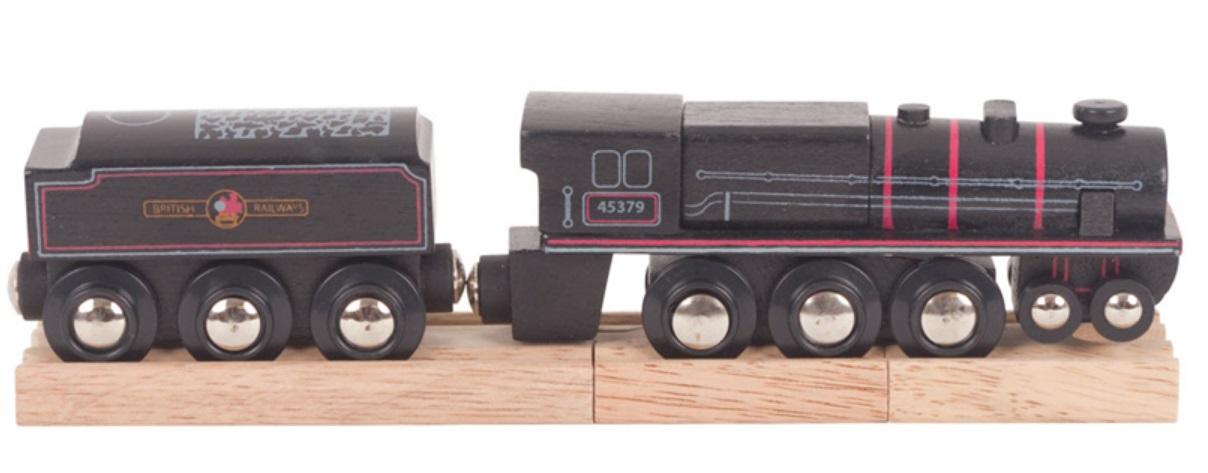 Prosta lokomotywa do torów drewnianych Bigjigs - Duża