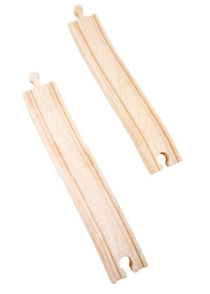 10267 Tory S. Wjazd+zjazd z mostów do torów drewnianych Small foot zestaw 2szt.