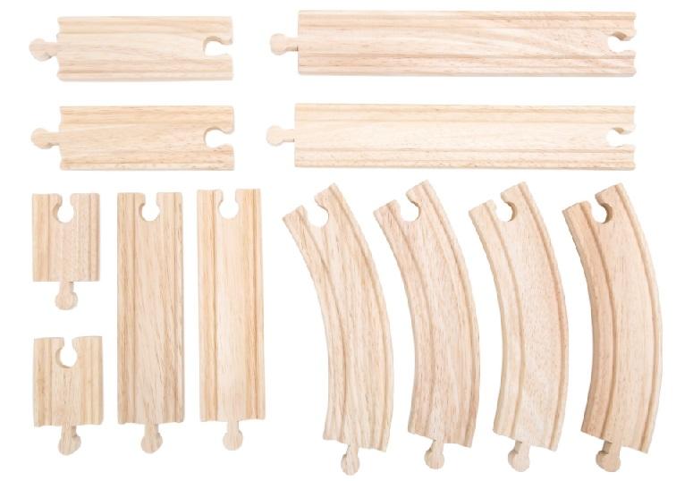 10258 Zestaw 12 solidnych torów drewnianych Small foot