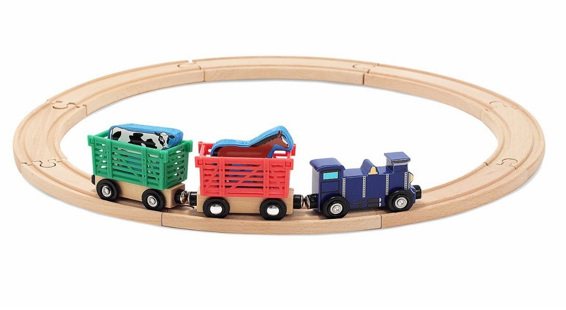 10644 Farma - zestaw kolejowy ze zwierzątkami