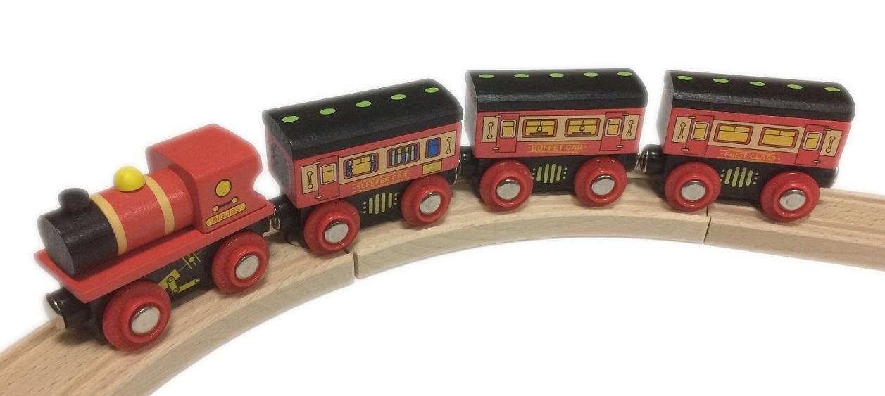 Pociąg z wagonami sypialnymi - Bigjigs