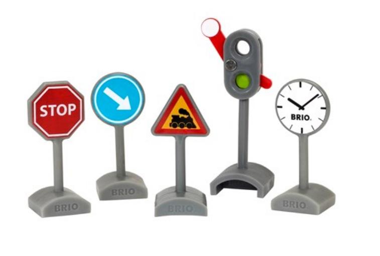 Zestaw znaków z semaforem - Brio