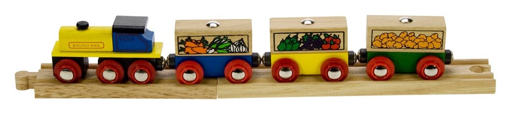 Pociąg z warzywami - Bigjigs