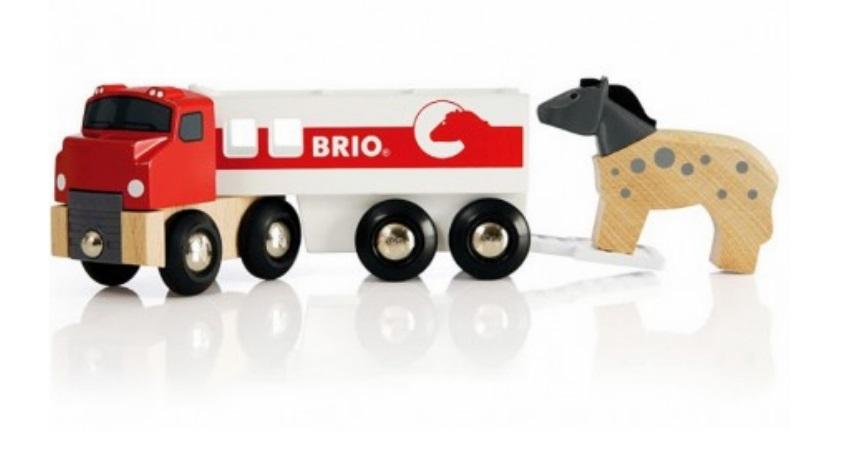 Ciężarówka do przewozu konika z konikiem - Brio