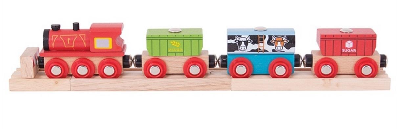 Pociąg zbożowy z kontenerami magnetycznymi - Bigjigs