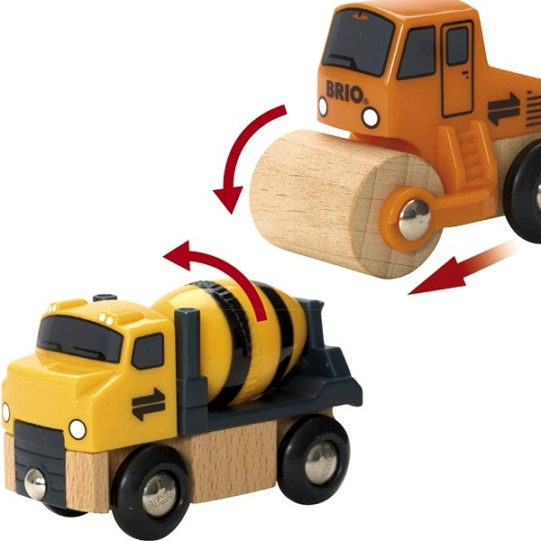 Zestaw pojazdów budowlanych ruchomych - Brio