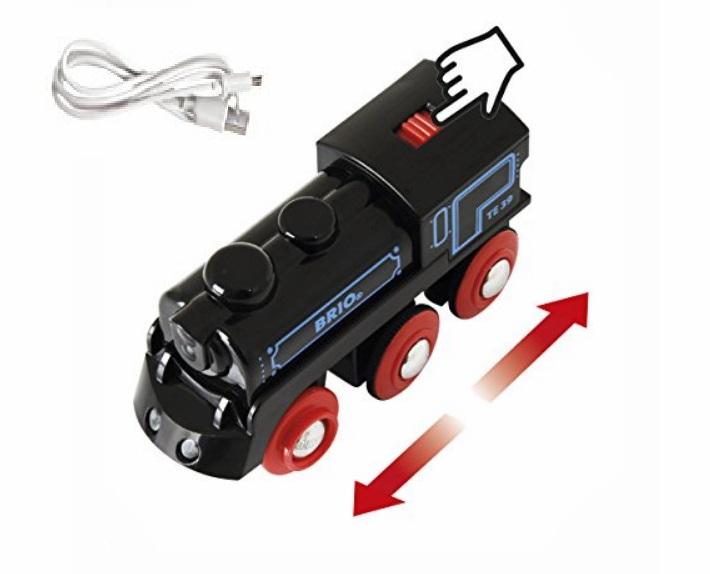 Lokomotywa ładowana USB - rewelacyjna do tras górskich i krętych - Brio