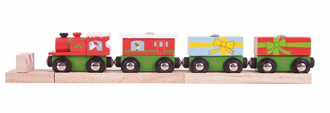 Świąteczny pociąg z prezentami w pełni magnetyczny! - Bigjigs