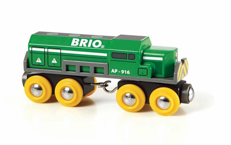 Zielona ciężka lokomotywa towarowa Brio - Brio