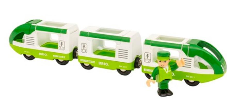 Zielony pociąg pasażerski SKM - Brio