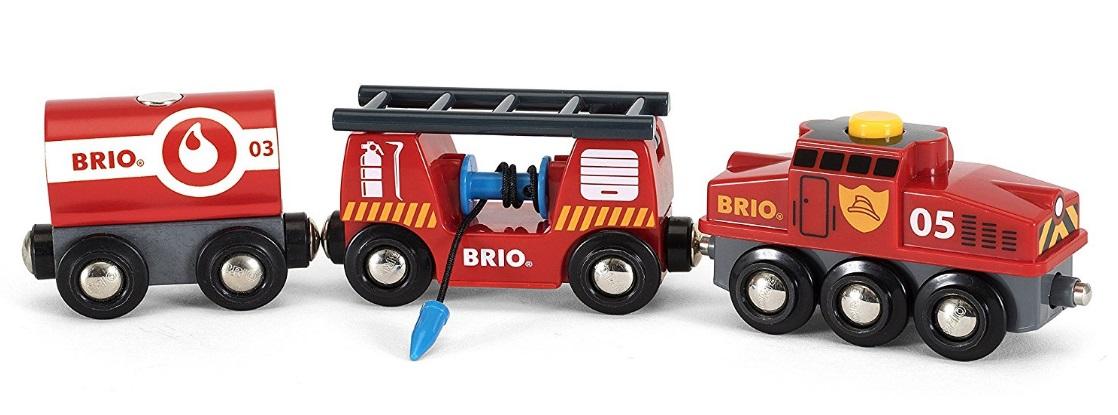 Pociąg pożarowy z lokomotywą automatyczną - Brio