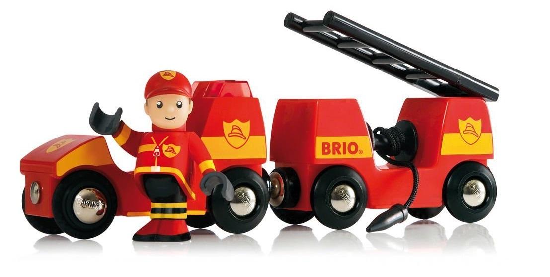 Pojazd strażacki Brio z syreną - Brio