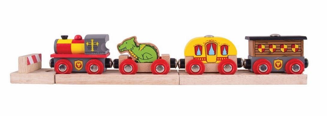 Pociąg zamkowy - rycerski ze smokiem - Bigjigs