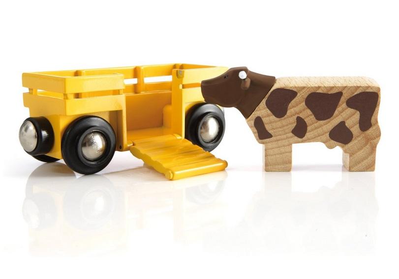 Wagon do transportu zwierząt z krową - Brio
