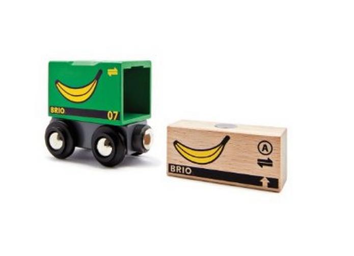 Wagon ładownia ze skrzynią bananów - Brio