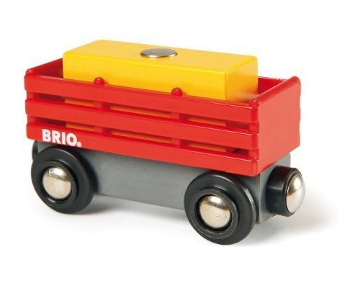 Wagon skrzyniowy z ładunkiem siana do dźwigów magnetycznych - Brio