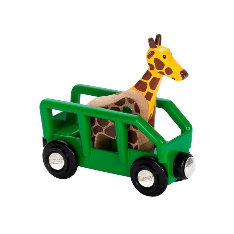 Wagon, przyczepa z żyrafą - Brio