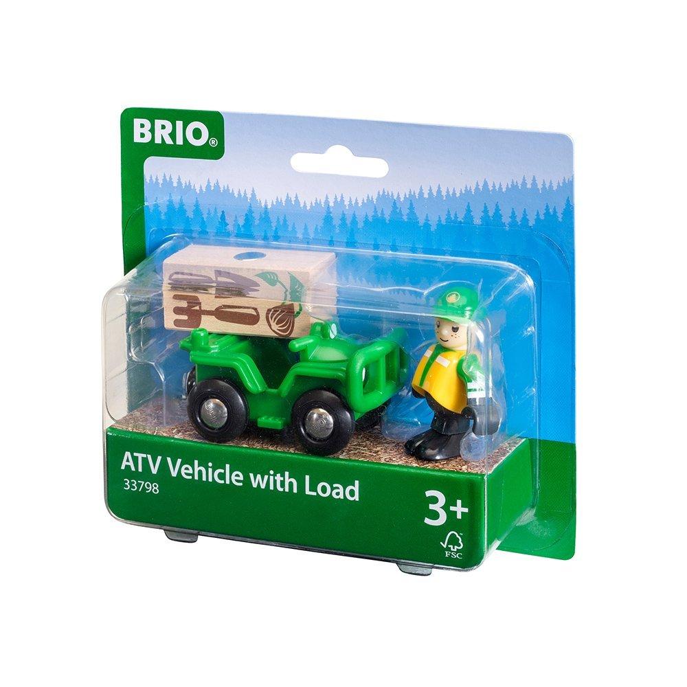 Ogrodnik z autkiem i ładunkiem - Brio