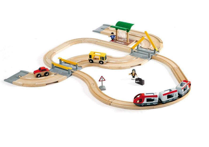 Kompletny zestaw drogowo-kolejowy - Brio