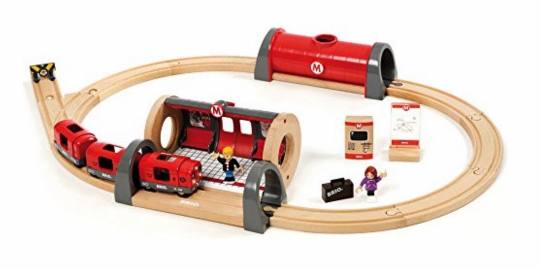 Metro - kompletna makieta kolejki podziemnej (światło i dźwięk) - Brio