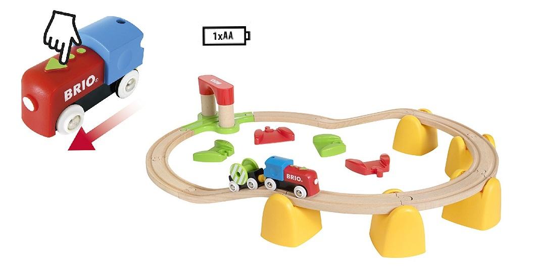 Piętrowy pociąg bobasa - zestaw elektryczny - Brio