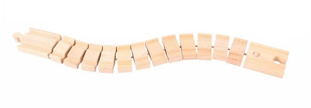 Magiczny długi łącznik - Tor drewniany - Bigjigs
