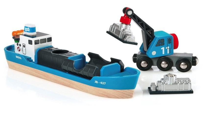Statek towarowy z dźwigiem - Brio