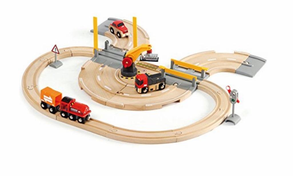 Zestaw drogowo-kolejowy z dźwigiem - Brio