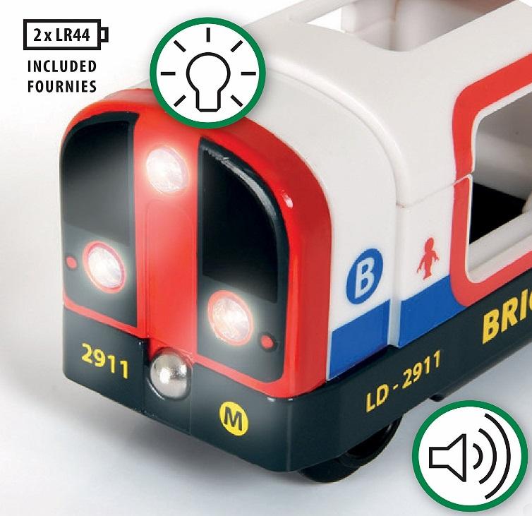 Metro, pociąg światło i dźwięk białe - Brio