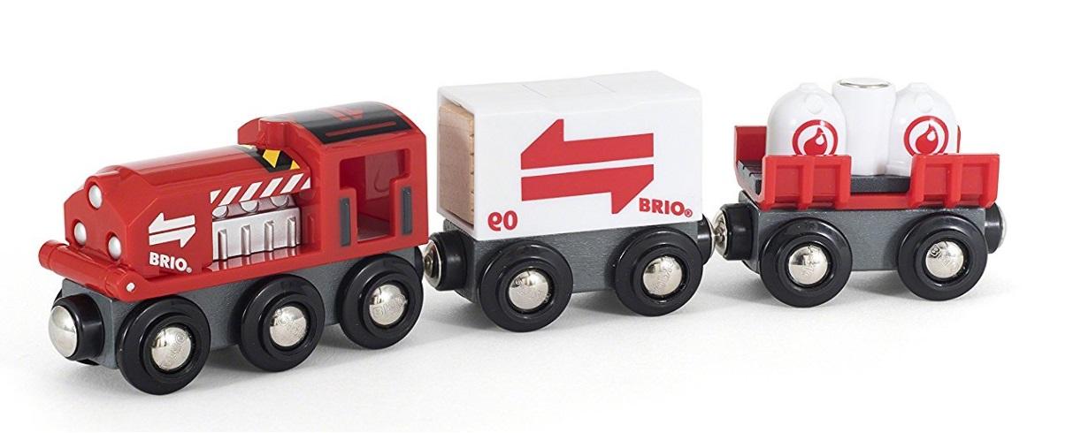 Czerwony pociąg cargo - Brio
