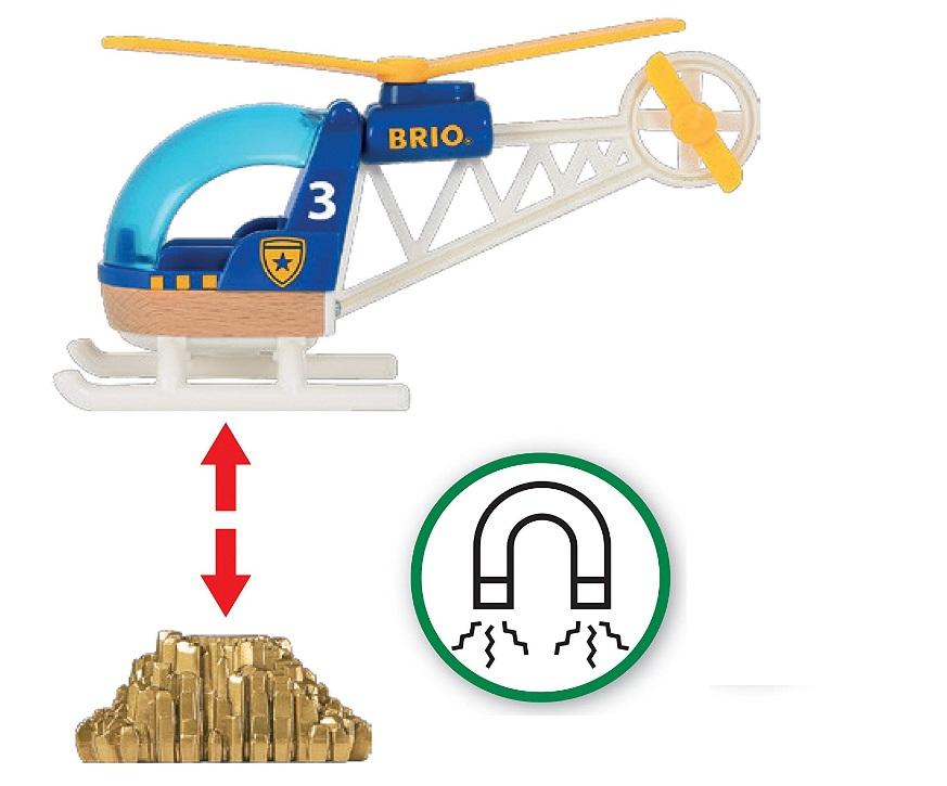 Helikopter z dźwigiem magnetycznym - Brio